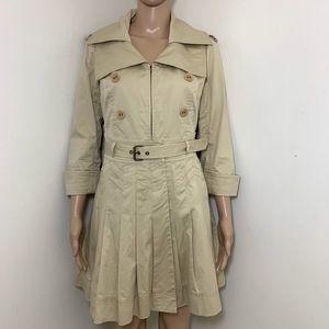 Diane von Furstenberg Pleated Trench Coat Jacket 8